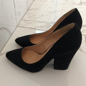 Stacked black Heel